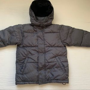 Gap boys puffer warm down jacket size XS gray